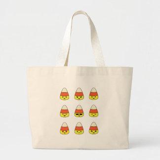 Bolsa Tote Grande Milho de doces engraçado Emoji