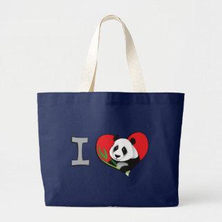 Bolsa Tote Grande Mim pandas do coração