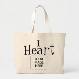 Bolsa Tote Grande Mim sacola customizável do coração