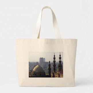 Bolsa Tote Grande Minaretes panorama de mesquita Cairo