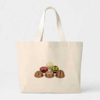 Bolsa Tote Grande Mistura de doces de chocolate