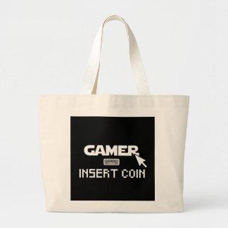 Bolsa Tote Grande Moeda da inserção do Gamer