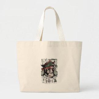Bolsa Tote Grande monkey o design bonito do pirata
