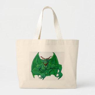 Bolsa Tote Grande Monstro verde