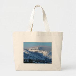Bolsa Tote Grande Montanhas com neve de sopro