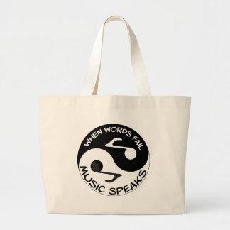 Bolsa Tote Grande Música de Yin yang