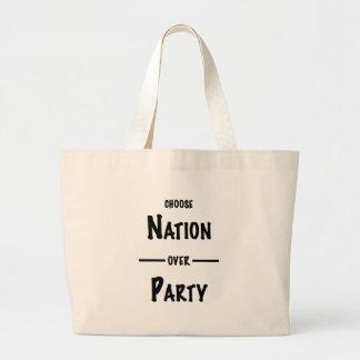 Bolsa Tote Grande Nação sobre a coleção do presente do partido