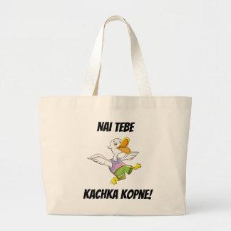 Bolsa Tote Grande Nai Tebe Kachka Kopne! Sacola ucraniana do pato