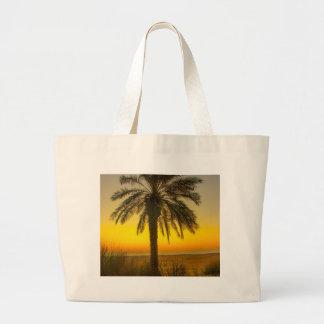 Bolsa Tote Grande Nascer do sol da palmeira