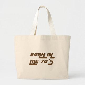 Bolsa Tote Grande Nascer nos anos 70