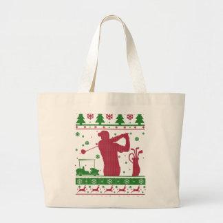 Bolsa Tote Grande Natal do golfe