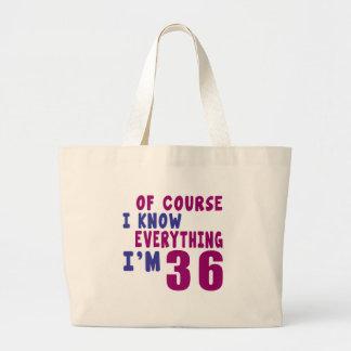 Bolsa Tote Grande Naturalmente eu sei que tudo eu sou 36