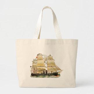 Bolsa Tote Grande Navio antigo