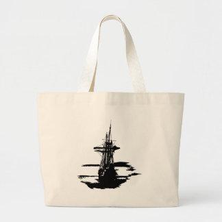 Bolsa Tote Grande navio de pirata
