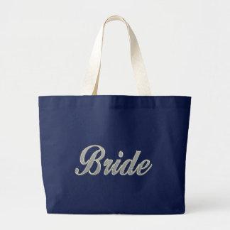 Bolsa Tote Grande Noiva com bling