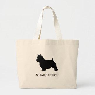 Bolsa Tote Grande Norwich Terrier