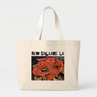 Bolsa Tote Grande Nova Orleães ferveu o tote. do marisco
