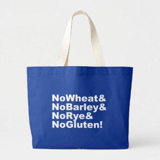 Bolsa Tote Grande NoWheat&NoBarley&NoRye&NoGluten! (branco)