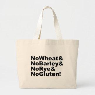 Bolsa Tote Grande NoWheat&NoBarley&NoRye&NoGluten! (preto)