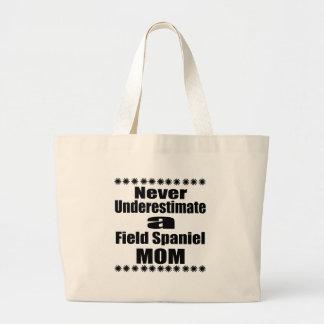 Bolsa Tote Grande Nunca subestime a mamã do Spaniel de campo