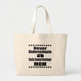 Bolsa Tote Grande Nunca subestime mamã Encaracolado-Revestida do