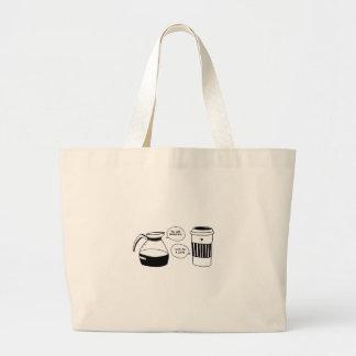 Bolsa Tote Grande O amor dos namorados de Latte do café