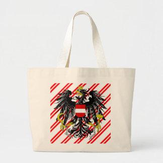 Bolsa Tote Grande O austríaco listra a bandeira