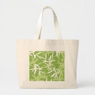 Bolsa Tote Grande O bambu verde sae do teste padrão original