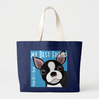 Bolsa Tote Grande O cachorrinho do meu Bostie
