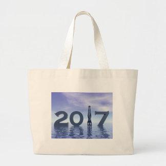 Bolsa Tote Grande O feliz ano novo 2017 do zen - 3D rendem