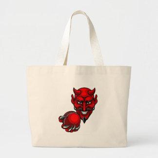 Bolsa Tote Grande O grilo do diabo ostenta a mascote