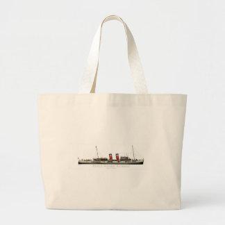 Bolsa Tote Grande O navio a vapor de pá Waverley por Tony Fernandes