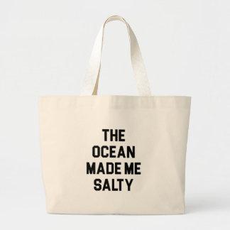 Bolsa Tote Grande O oceano fez-me salgado