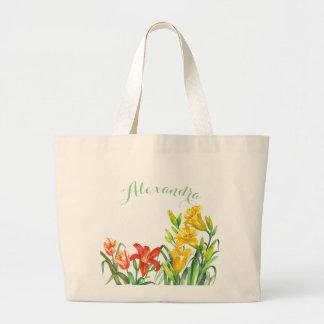 Bolsa Tote Grande O primavera floresce a grande sacola