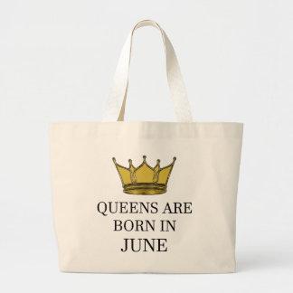 Bolsa Tote Grande O Queens é nascido em junho