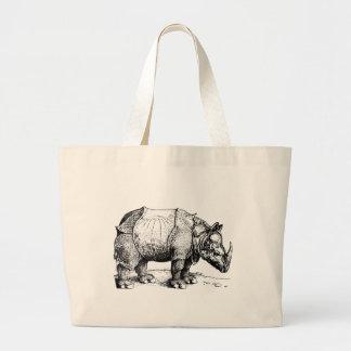 Bolsa Tote Grande O rinoceronte