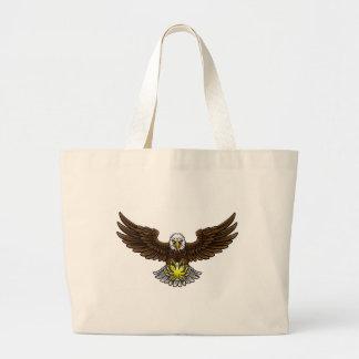 Bolsa Tote Grande O tênis de Eagle ostenta a mascote