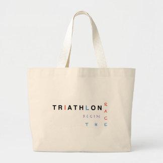Bolsa Tote Grande O Triathlon deixou a raça começar