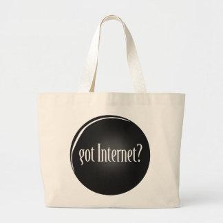 "Bolsa Tote Grande ""Obteve o Internet"", Internet, Internet obtido"