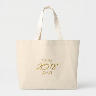 Bolsa Tote Grande Olhar 3-D dourado 2018
