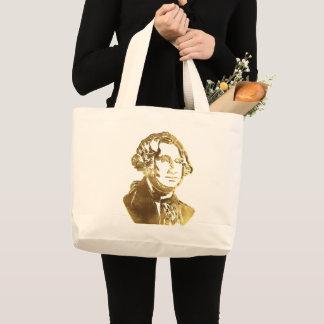 Bolsa Tote Grande Olhar do ouro do retrato de George Washington
