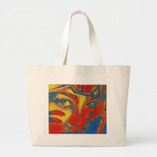 Bolsa Tote Grande Olhos artísticos contemporâneos raros legal