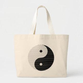 Bolsa Tote Grande Ondas de Yin Yang