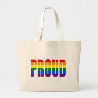 Bolsa Tote Grande ORGULHOSO (arco-íris)