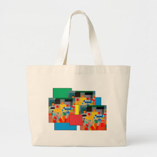 Bolsa Tote Grande Os corredores por Robert Delaunay