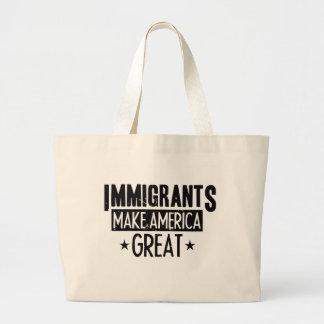 Bolsa Tote Grande Os imigrantes fazem o excelente de América