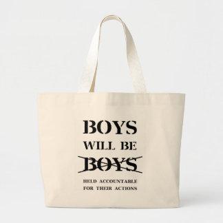 Bolsa Tote Grande Os meninos serão meninos (a praga livre)