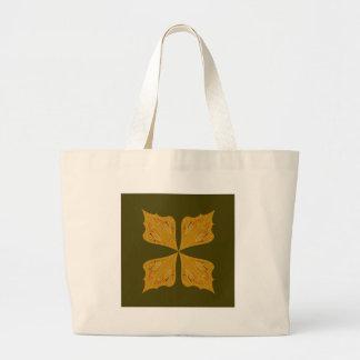 Bolsa Tote Grande Ouro das mandalas na azeitona