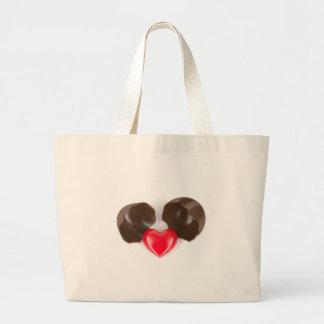 Bolsa Tote Grande Ovo e coração de chocolate
