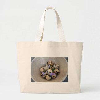Bolsa Tote Grande Ovos de codorniz & flores 7533